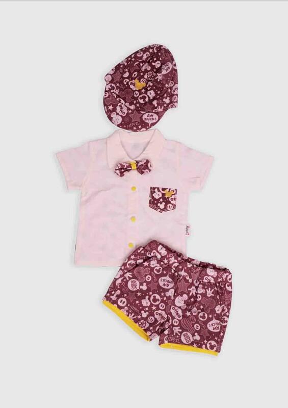 Hippıl Baby - Hippıl Baby 3'lü Bebek Takım | Bordo