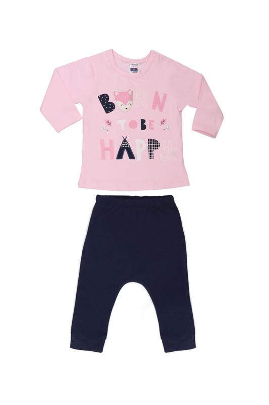 HOPPALA BABY - Hoppala Baby Baskılı Kız Bebek 2'li Takım | Bebe Pembe