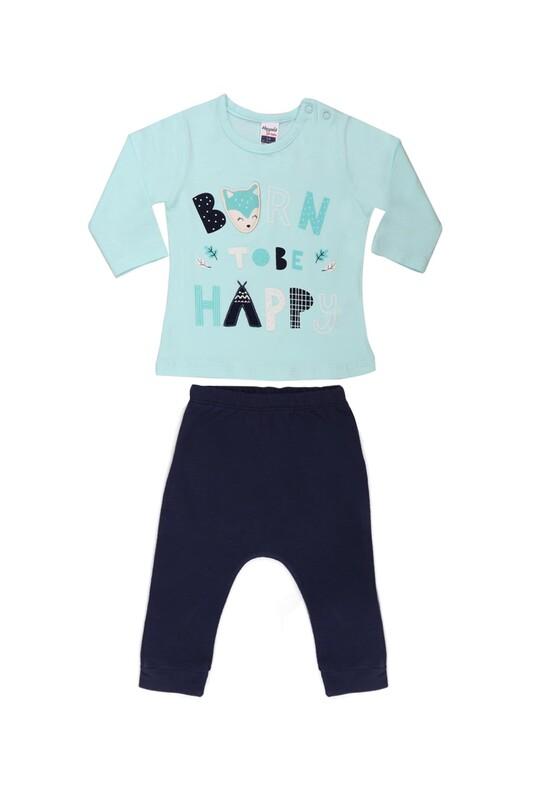 HOPPALA BABY - Hoppala Baby Baskılı Kız Bebek 2'li Takım | Su Yeşili