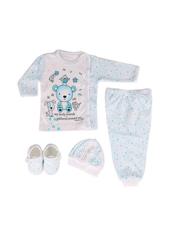 HOPPALA BABY - Hoppala Baby Bebek Takımı 8019 | Mavi