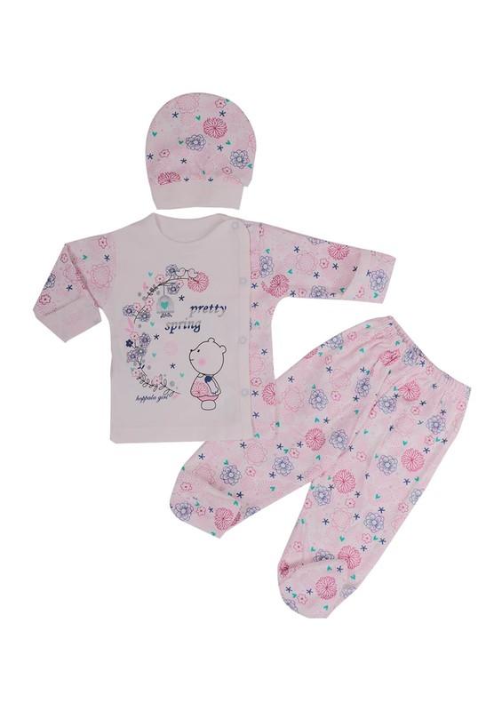 HOPPALA BABY - Hoppala Baby Bebek Takımı 8076 | Pembe
