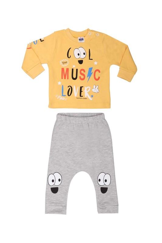 HOPPALA BABY - Hoppala Baby Cool Erkek 2'li Takım 2271 | Hardal