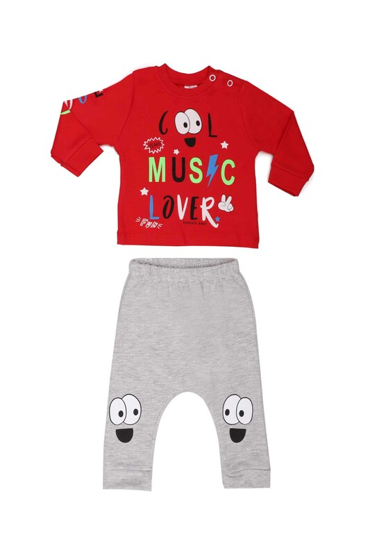 HOPPALA BABY - Hoppala Baby Cool Erkek 2'li Takım 2271 | Kırmızı