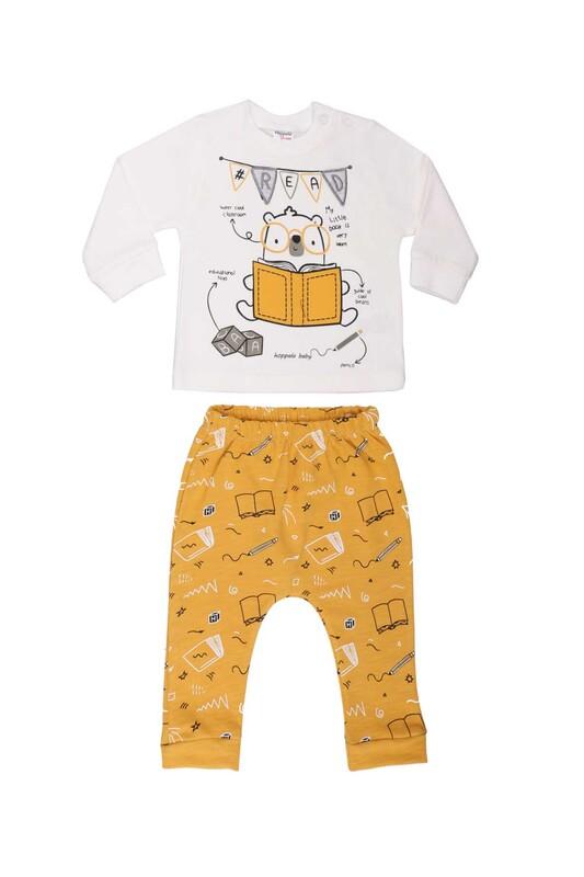 HOPPALA BABY - Hoppala Baby Read Erkek Çocuk 2'li Takım 2267 | Sarı