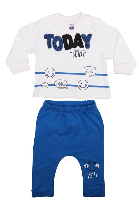 HOPPALA BABY - Hoppala Baby Today Erkek Bebek 2'li Takım 2269 | Saks