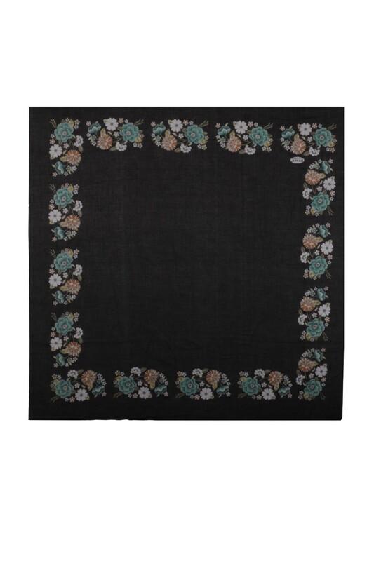 İPEKÇE - İpekçe Çiçek Desenli Yazma 90 cm   022