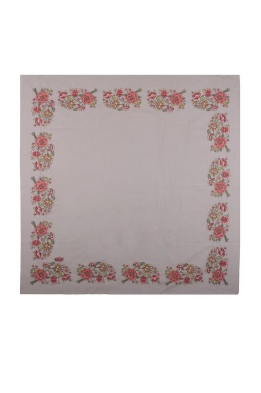 İPEKÇE - İpekçe Çiçek Desenli Yazma 90 cm   028