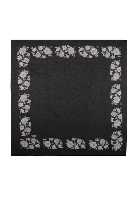 İPEKÇE - İpekçe Çiçek Desenli Yazma 90 cm   036