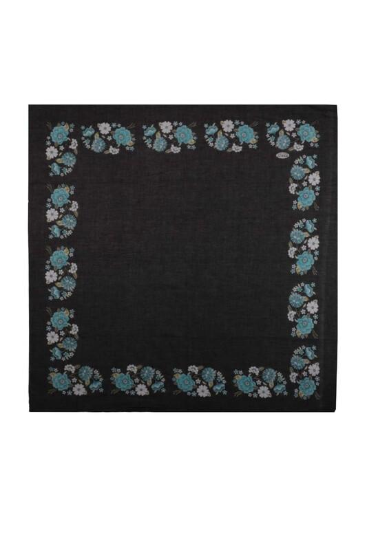 İPEKÇE - İpekçe Çiçek Desenli Yazma 90 cm   038