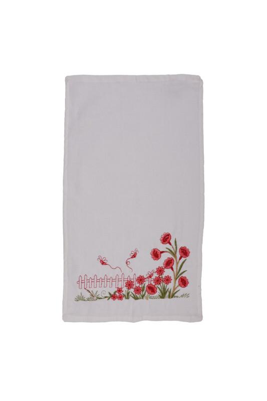 ÜNSAL - İşlemeli El Havlusu 001 30x50 cm | Nar Çiçeği