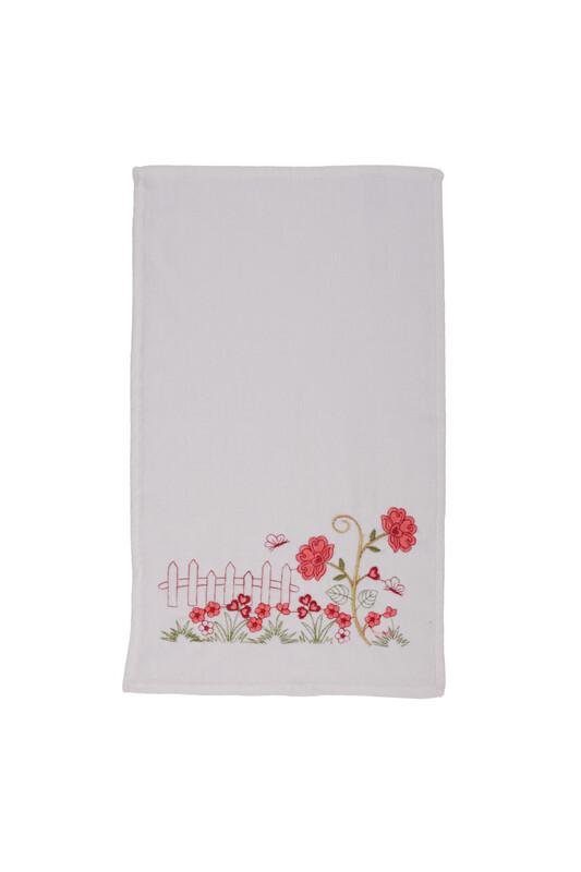 ÜNSAL - İşlemeli El Havlusu 002 30x50 cm | Nar Çiçeği