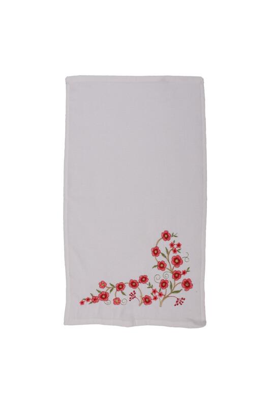 ÜNSAL - İşlemeli El Havlusu 003 30x50 cm | Nar Çiçeği