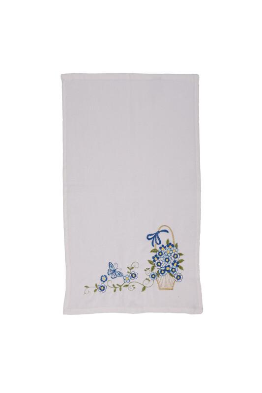 ÜNSAL - İşlemeli El Havlusu 004 30x50 cm | Mavi