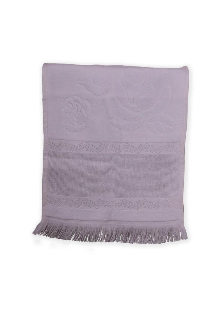 Fiesta Soft Kadife İşleme Havlusu Saçaklı 30 x 50   Beyaz