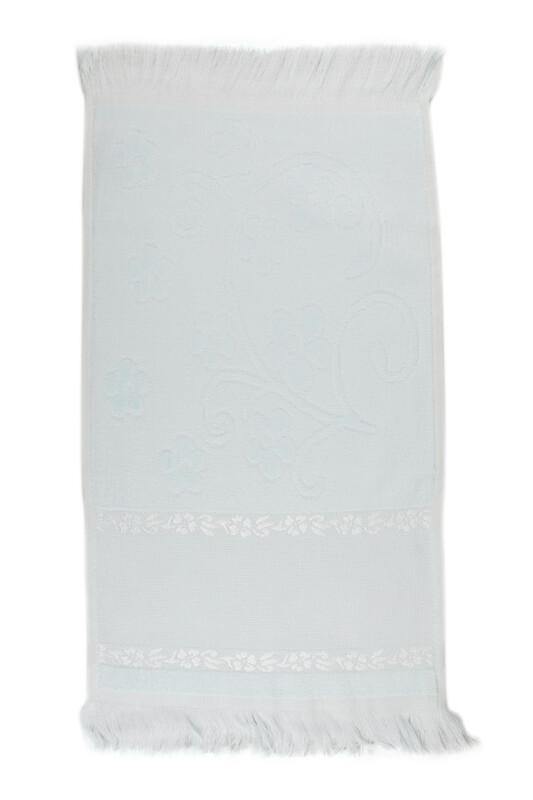 SİMİSSO - Saçaklı İşlemelik Havlu 30*50 cm | Su Yeşili