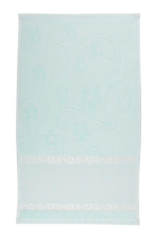SİMİSSO - Saçaksız İşlemelik Havlu 30*50 cm | Yeşil