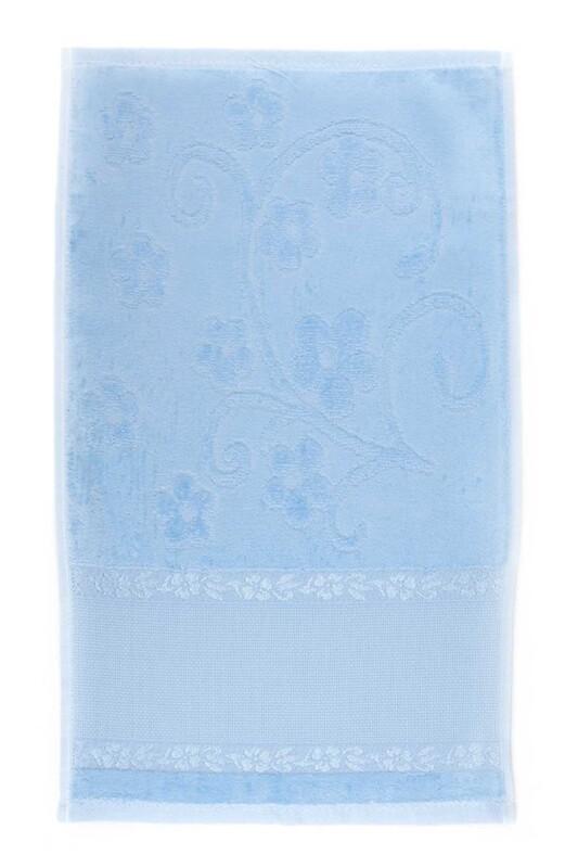 SİMİSSO - Saçaksız İşlemelik Havlu 30*50 cm | Bebe Mavi