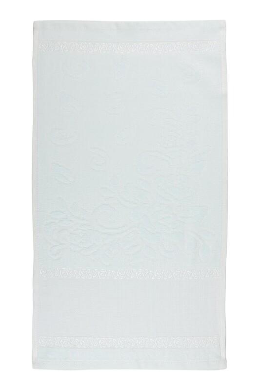 SİMİSSO - Saçaksız İşlemelik Havlu 30*50 cm | Su Yeşili