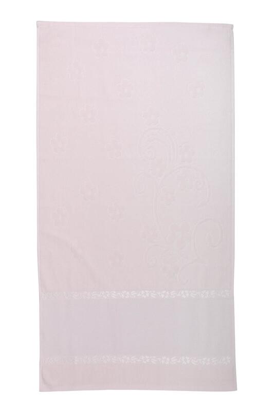 SİMİSSO - Saçaksız İşlemelik Havlu 50*90 cm | Somon