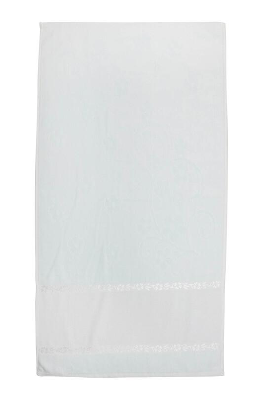 SİMİSSO - Saçaksız İşlemelik Havlu 50*90 cm | Su Yeşili