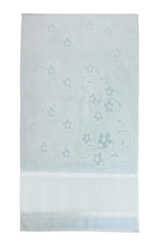 SİMİSSO - Saçaksız İşlemelik Havlu 50*90 cm | Mavi