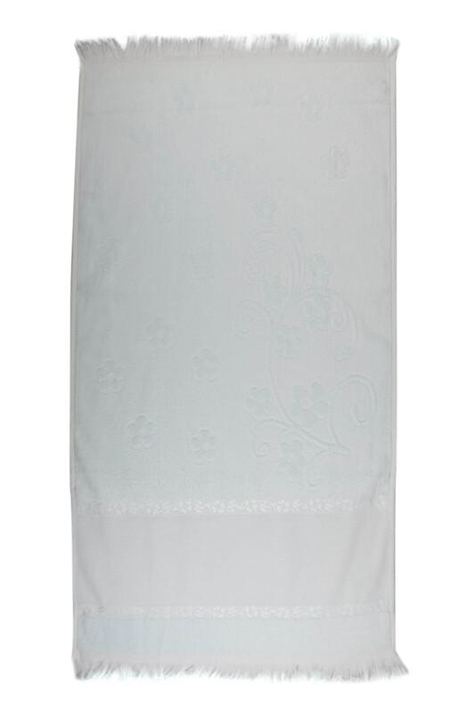 SİMİSSO - Saçaklı İşlemelik Havlu 50*90 cm | Su Yeşili