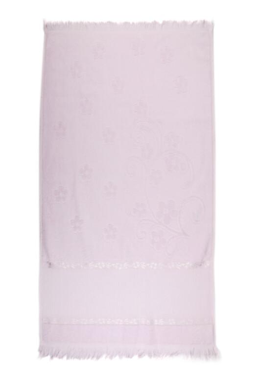 SİMİSSO - Saçaklı İşlemelik Havlu 50*90 cm | Lila