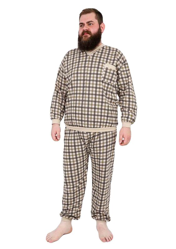 ITAN - İtan Pijama Takımı 356   Bej