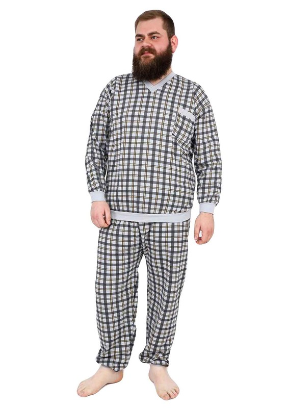ITAN - İtan Pijama Takımı 356   Gri