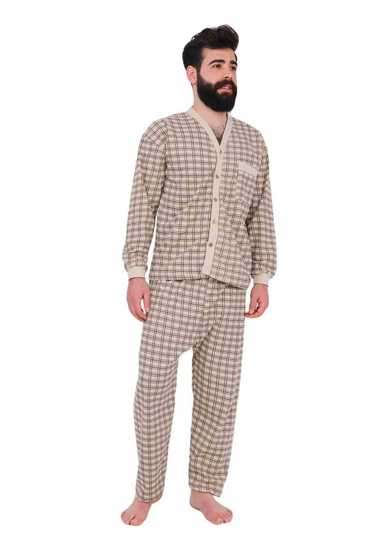 ITAN - İtan Pijama Takımı 358   Kahverengi