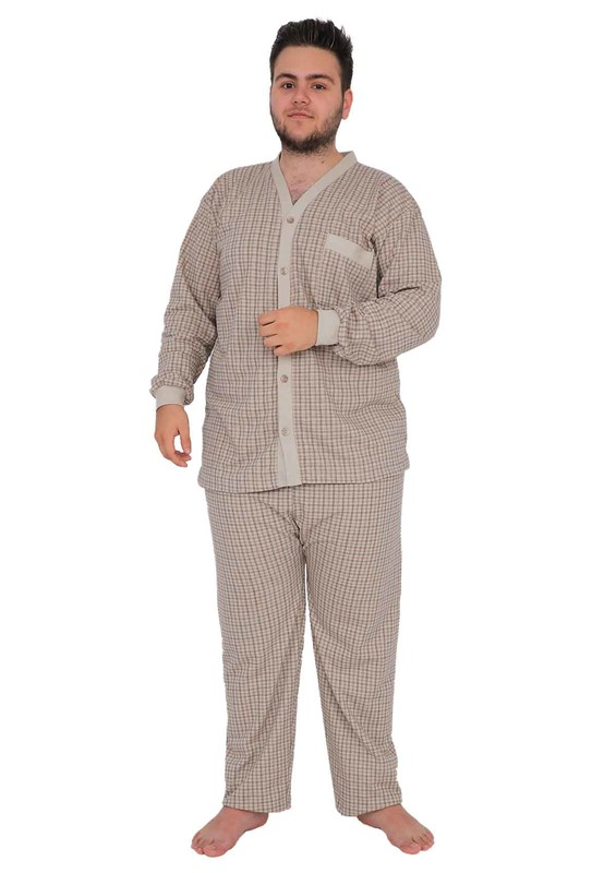 ITAN - İtan Pijama Takımı 359   Kahverengi