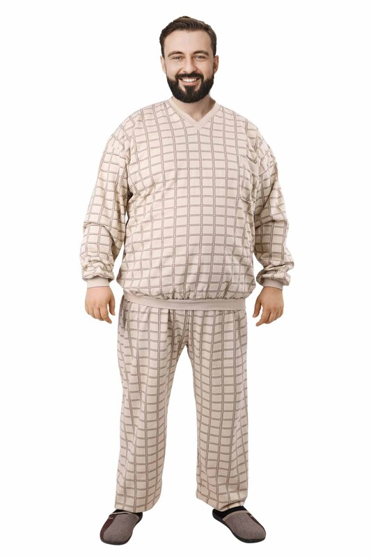 ITAN - İtan Pijama Takımı 373 | Kahverengi