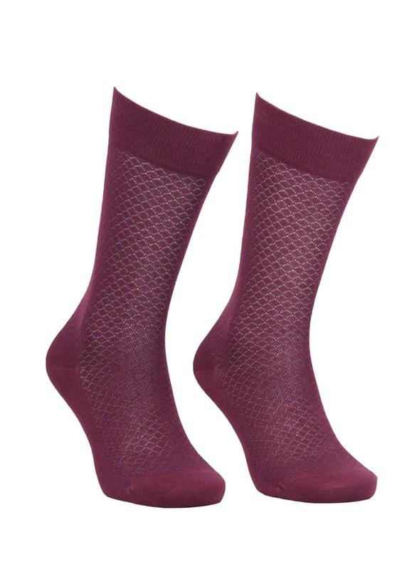 JİBER - Jiber Bambu Çorap 5502 | Bordo