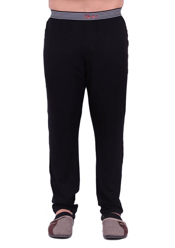 JİBER - Jiber Modal Tek Alt Erkek Pijama 4633 | Siyah