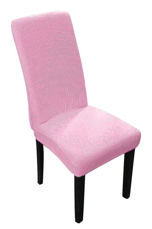 SİMİSSO - Kadife Likralı Sandalye Kılıfı 6'lı   Lila