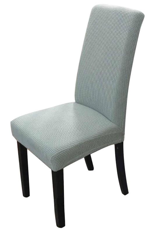 SİMİSSO - Kadife Likralı Sandalye Kılıfı 6'lı   Yeşil