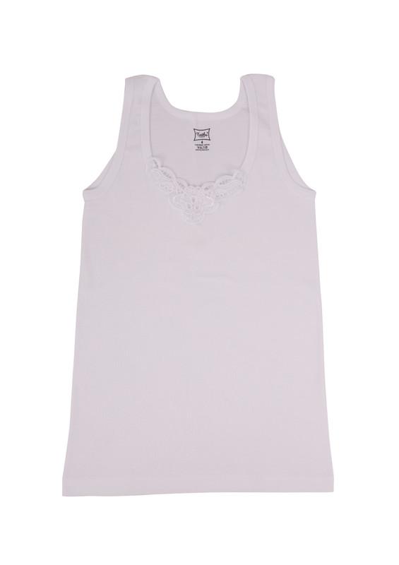 TUTKU - Tutku Ribana Kalın Askılı Güpürlü Atlet 140 | Beyaz