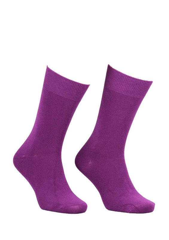 SİMİSSO - Kadın Bambu Çorap 514 | Mor
