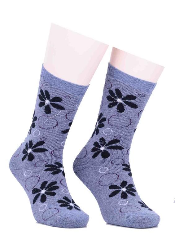 ARC - Arc Çiçekli Havlu Çorap 212   İndigo