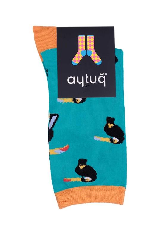 AYTUĞ - Aytuğ Desenli Kadın Çorap 2432   Yeşil