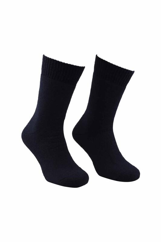 MOFİY - Mofiy Termal Havlu Kadın Çorap   Lacivert
