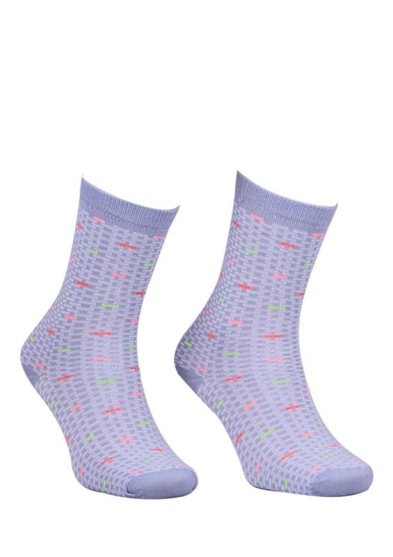 RASSE - Çizgili Desenli Çorap 4052 | Gri