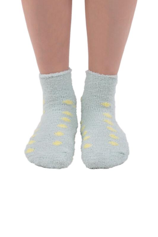 SAHAB - Sahab Kadın Peluşlu Patik Çorap 48500   Su Yeşili