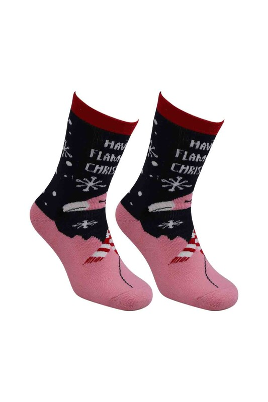 SARA DONNA - Yılbaşı Havlu Çorap 001   Siyah