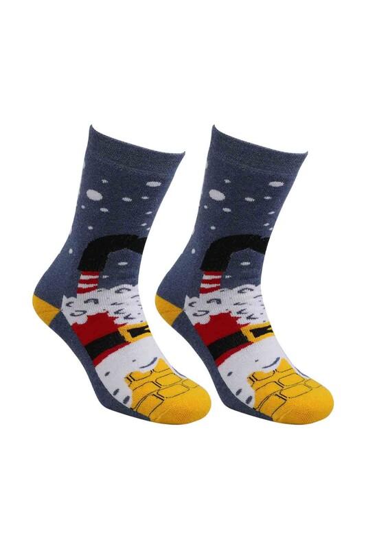 SARA DONNA - Yılbaşı Havlu Çorap 001 | Mavi
