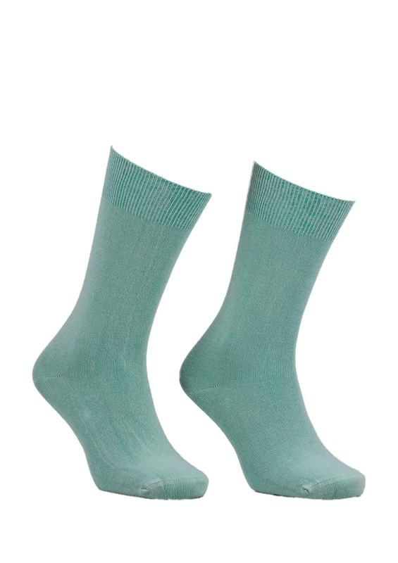 SİMİSSO - Kadın Bambu Çorap 514   Su Yeşili