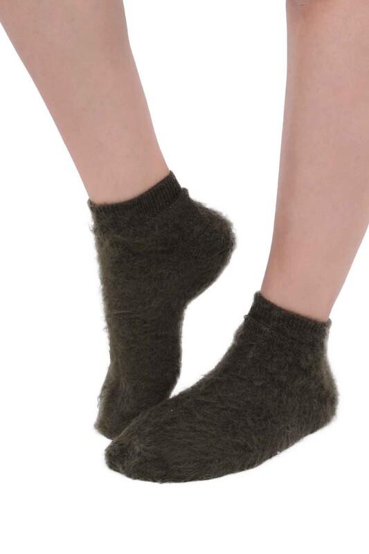 SİMİSSO - Dışı Şardonlu Termal Kadın Havlu Patik Çorap 3031 | Açık Yeşil