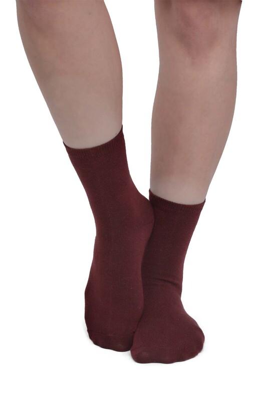 SİMİSSO - Kadın Soket Çorap 955 | Bordo