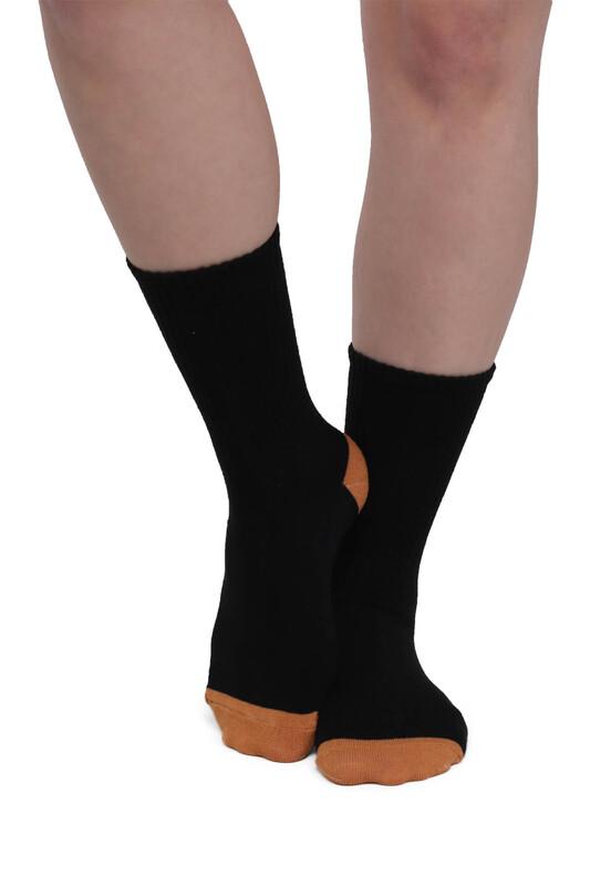 SİMİSSO - Desenli Kadın Soket Çorap 958   Siyah