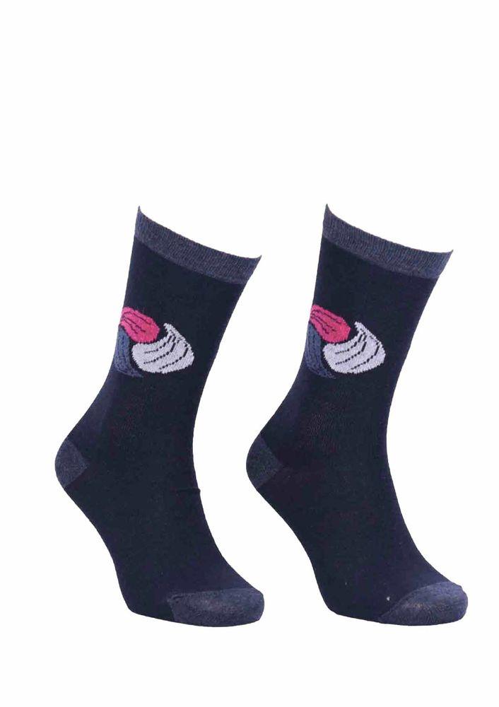Simisso Desenli Lacivert Çorap 542